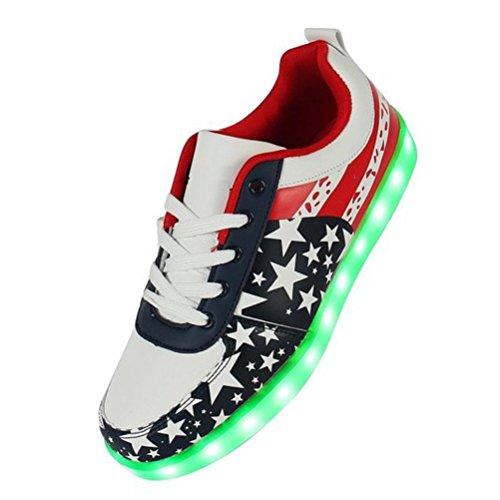 (Present:kleines Handtuch)JUNGLEST® Unisex High Top 7 Farben Blitzen LED Schuhe Damen Turnschuhe Hohe LED Licht Farbwechsel LED Li Schwarz