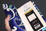Agenda semainier 2019 carnet note handmade tissu motifs floraux bleu vert organiseur poche répertoire fermeture élastique turquoise