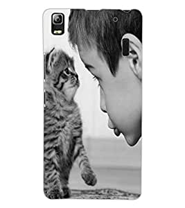 ColourCraft Cute Cat Design Back Case Cover for LENOVO K3 NOTE