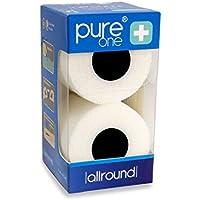 PureOne Allround 5cm x 4,5m Doppelpack Premium Bandage | selbsthaftend latexfrei atmungsaktiv | Schutz, Fixier... preisvergleich bei billige-tabletten.eu