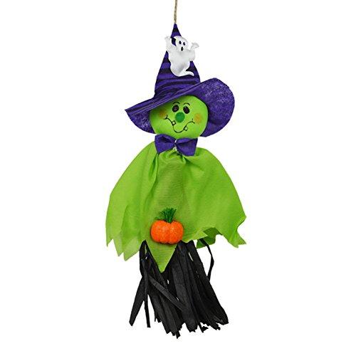 Zantec Netter reizender Kürbis Geist Anhänger Halloween Wand Tür Fenster hängende Verzierungen für Garten Yard Halloween Party Dekor Haunted Häuser Dekorationen Stützen (Halloween Sarg Requisiten)