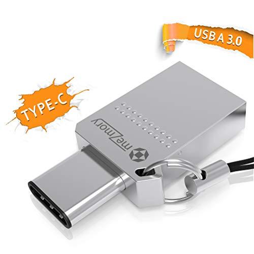Mini USB C Stick Dual 64GB - 2 in 1 Funktion > USB 3.0 & Type C < Wasserdicht, Klein & Extrem Schnell - Aus Metall Ideal für Schlüssel-Anhänger - Flash Drive Speicherstick USB-C 64 GB