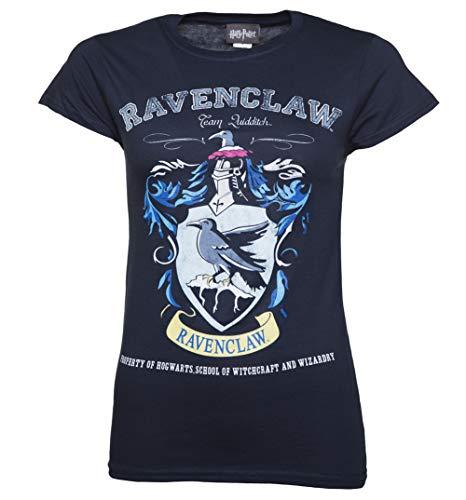 Harry Potter Ravenclaw Quidditch Team Damen T Shirt Navy Blau -