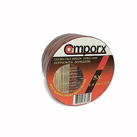CMPORX Ruban adhésif double face avec 1 mm de mousse