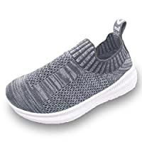 Dream Bridge Knit Sneaker Toddlers Breathable Shoes for Baby Boys Girls Running Shoes (Grey)