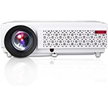 "Excelvan LED 96+ - HD Proyector LED 1280P (3000 Lumenes, 1280 x 800P, Proyeccion 60"" - 120"", 4:3 16:9, 2000:1, 1.5M Mini distancia, Comparte con TV X-BOX PS4 Laptop PC USB iPhone Android Smartphone Por Via HDMI, VGA; Altavoz) , 96 Blanco"