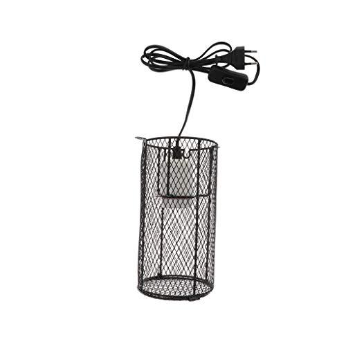 B Blesiya Metall Schutzkorb mit E27 Keramikfassung für Terrarium-Lampen
