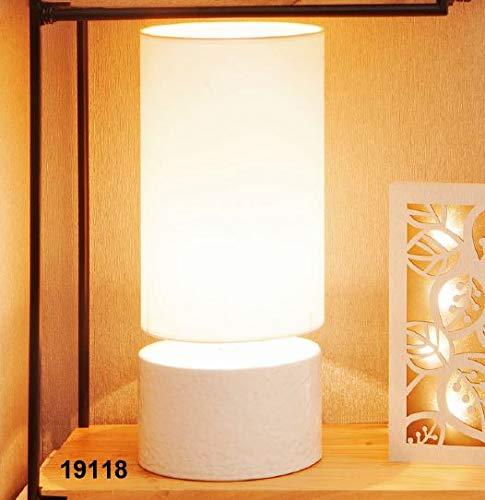 CLARALUNA Lampe Zylinder Base Porzellan -