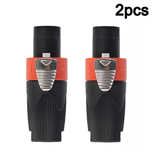Purebesi 2 PCS 4-Pole Stecker Speakon Audiokabel Audiokabel Plug für NEUTRIK NL4FC -