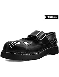 T.U.K. Shoes Women's Black TUKskin™ Kitty Mary Jane Vegan Shoes EU36/UKW3