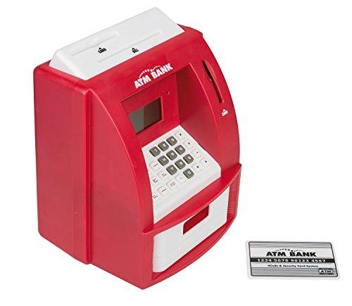 Idena 50020–Hucha Digital con diseño de Cajero Automático con sonido, aprox. 21.8x 16x 14,5cm, color azul