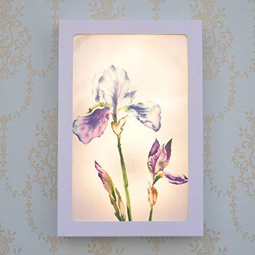 WLM Führte Rosa Blume Koreanisches Pastorales Hauptschlafzimmer-Nachttisch-Kleines dekoratives Paintwall Helles, 20X30Cmfashion-Leuchte,Rosa Orchidee, Warmes Licht - 222 -
