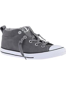 Converse Chucks Kinder 655992C Chuck Taylor All Star Street Mid Grau Mason / Ash Grey / White