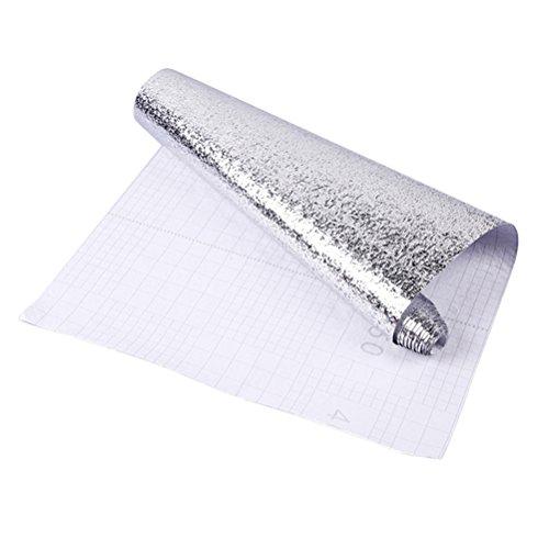 BESTONZON Selbstklebend Aluminium Folie Papier hitzebeständig Wasserdicht feuchtigkeitsabweisend Fettdichte, öldicht auslaufsicher Küche Supplies 40x 100cm