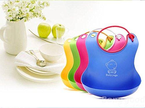 Bazaar für Kinder mit Cartoon, wasserdicht, weiches Silikon Lätzchen Baby Fütter-Shield.