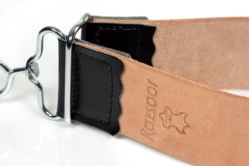 RAZZOOR Lanière en véritable cuir de buffle - ceinture/affûteuse de haute qualité pour l'affûtage des rasoirs - utilisable des deux côtés