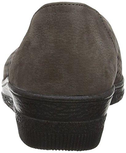 Gabor Heart Damen Schnürhalbschuhe Brown (Brown Nubuck/Argento Metallic Leather)