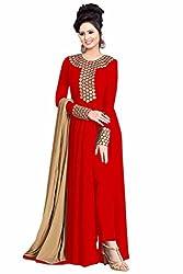 Vaankosh Fashion Women'S Red Georgette Designer Salwar Suits PartyWear Dress Materials