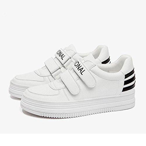 HAIZHEN  Stivaletto Sneakers delle scarpe da tennis delle scarpe da tennis delle scarpe da donna Bianco 3.5cm Per 18-40 anni ( Colore : Rosso , dimensioni : EU38/UK5.5/CN38 ) Nero