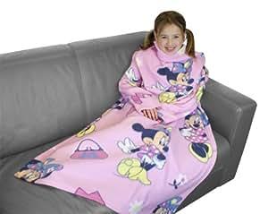 Character World Disney Minnie Mouse Shopaholic Sleeved Fleece Blanket