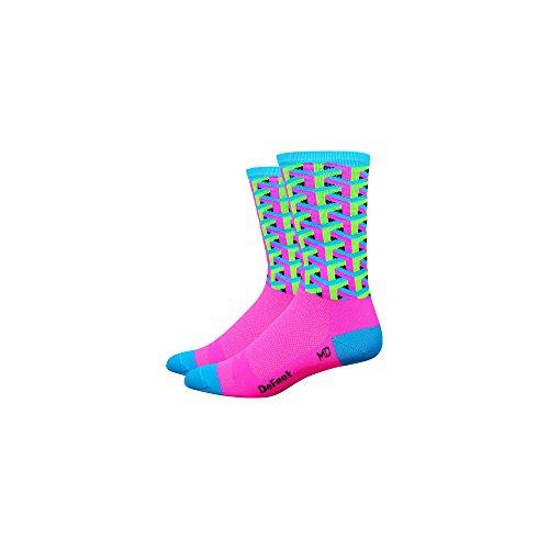 Defeet - DeFeet Aireator Framework pink socks - Pink, M (EU 40-42.5) (Women 8,5-10,5) (Men 7-9) -
