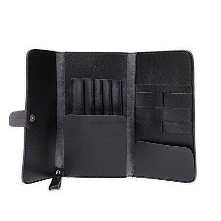 Anself Haarscherentasche Friseurtasche Friseur Werkzeugtasche aus PU Leder