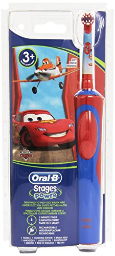 Braun Oral-B Stages Power AdvancePower Kids 900TX elektrische  Akku Zahnbuerste  Kinder 3 J.  (D12.513.K) Disney CARS mit Timer
