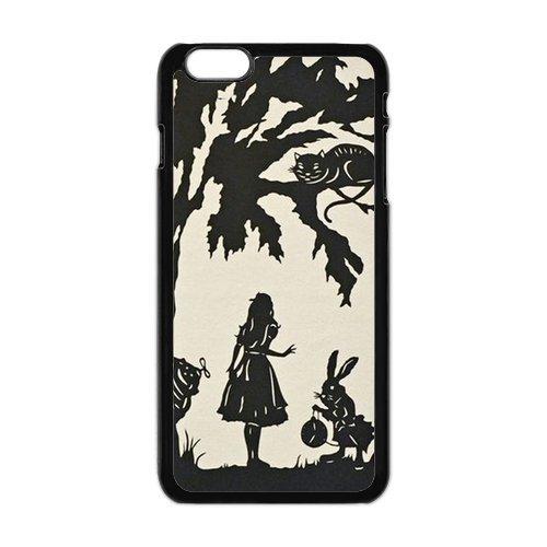 """iPhone 6Plus (5,5) Design Étui cover case-Alice in Wonderland TPU Étui Coque de Protection pour iPhone 6Plus (5.5"""") (Blanc/Noir)"""