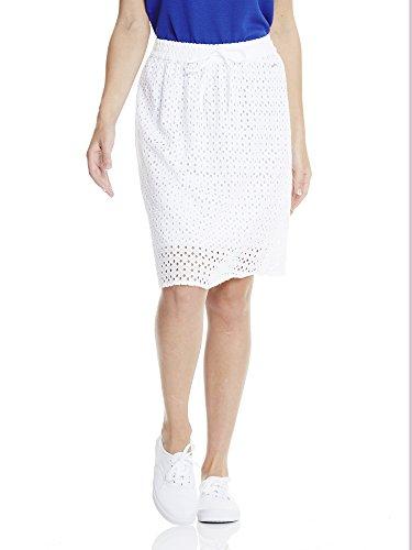 Bench Damen Rock Cotton Crochet Skirt Weiß (Bright White WH11185) 34 (Herstellergröße: XS) -