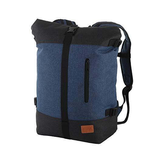 Rada Roll Top Rucksack/Daypack für Damen & Herren, wasserabweisender u. Stabiler Tagesrucksack, viel Platz, stylisches Design (Shadow Blue)
