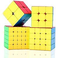 مكعب مويو قياس 2×2 3×3 4×4 5×5 مكعب سرعة مغلف في صندوق هدايا