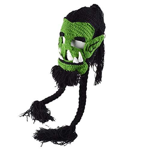 Neuheit Creepy Trendy Echtes Spiel Maske Männer Frauen Halloween Party Kostüm Jolie Cosplay Hut Ostern Bart Hut Green