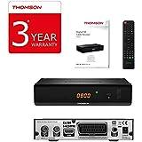 Thomson THC301 Cable Negro TV Set-Top Boxes - Reproductor/sintonizador (Cable, DVB-C, 480i,480p,576i,576p,720p,1080p, 4:3, 16:9, Negro, Digital)