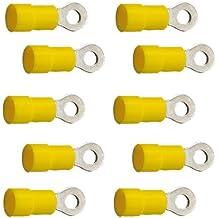 10 Ringkabelschuhe M5 5,3mm gelb 4,0 bis 6,0 mm/²