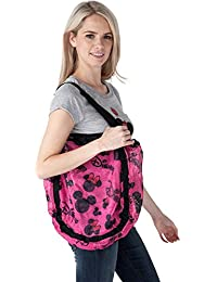Disney Mickey And Minnie Mouse Mesh Hobo Beach Tote (Pink Minnie & Mickey)