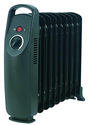 Drexon 512100 Mini radiateur à bain d'huile 1000 W Noir