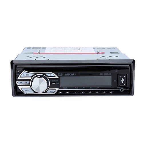 Tragbares Autoradio mit CD- / DVD-Player, MP4, USB, SD, AUX-IN, FM-Radio mit Fernbedienung