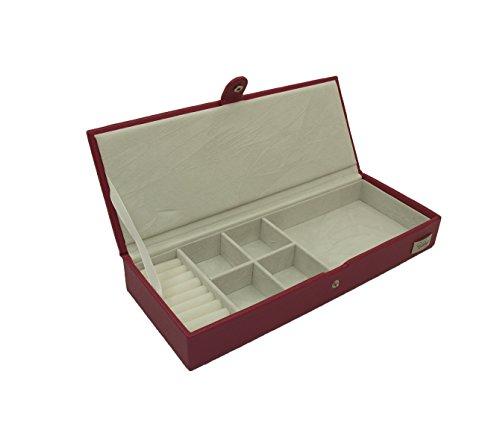 Cordays-Joyero-Compacto-Rectangular-de-Seora-con-Mltiples-Divisiones-Caja-organizadora-de-Joyas-Hecha-a-Mano-Calidad-Premium-CDL-10033P