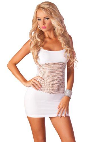 Pink Lipstick Women's Adrenaline Seamless Net Dress, White, One Size