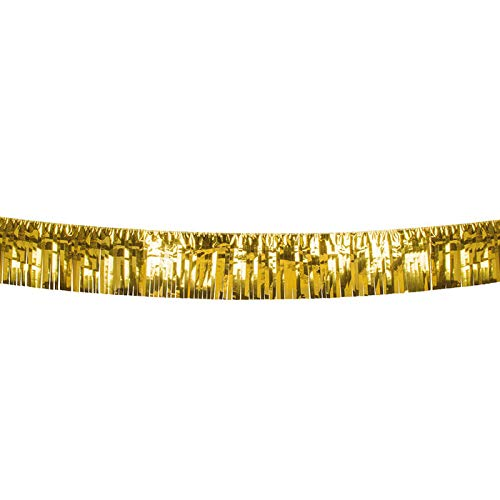 PARTY DISCOUNT® Girlande Lametta, Gold, 6 m