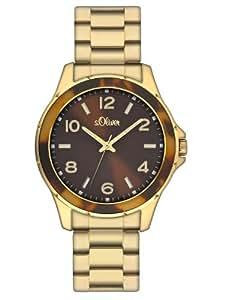 s.Oliver Damen-Armbanduhr Analog Edelstahl SO-2358-MQ