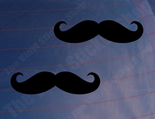 (2Schnurrbart Funny Movember Auto/Van/Fenster/Bumper/Laptop Vinyl Sticker/Aufkleber)