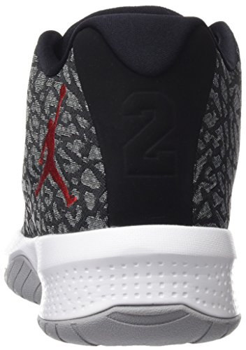 Nike Jordan B. Fly, Scarpe da Basket Uomo Grigio (Wolf Grey/gym Red-black-white)