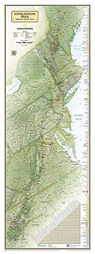 National Geographic: Appalachian Trail Wall Map Wall Map - Laminated (18 X 48 Inches) (National Geographic Reference Map)