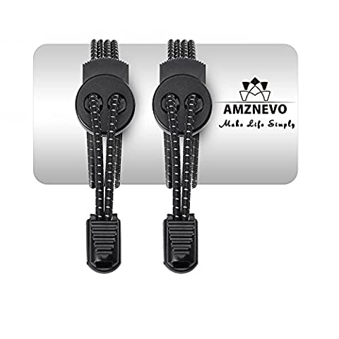 Amznevo Casual Elastic No Tie Lock Shoelaces for Kids And Adults, Specially Designed Boots Sneakers Laces, Cool Gift to Basketball Jogger Hiking Sport Fan