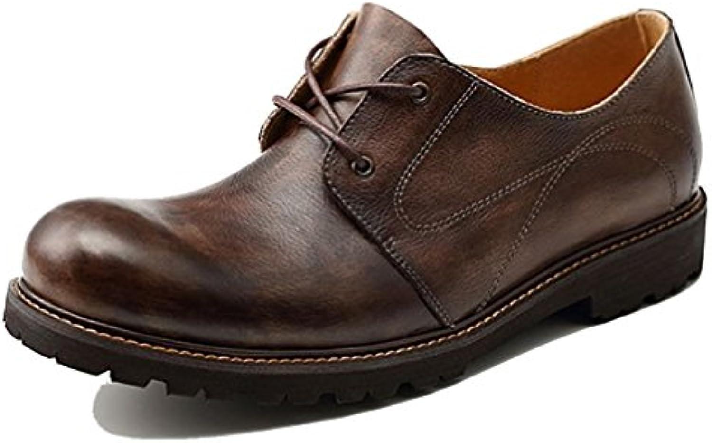 LYZGF Männer Jahreszeiten Mode Lässig Vater Atmungsaktiv Fahren Lederschuhe