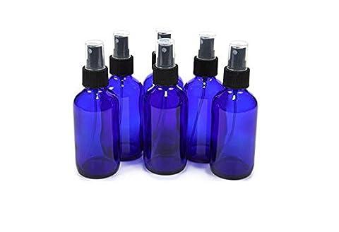 6Pcs 1oz/2oz 30ml/50ml Blue Plastic Bottle with Black Fine Mist