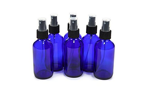 Unzen 6/6030ml/LSF15blau Kunststoff Flasche mit Schwarz Fein Mist Spritzen ätherisches Öl Parfüm Behälter für Gebrauch Zuhause und auf Reisen (4-unzen-sprühflasche)