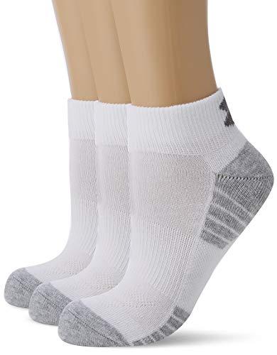 Under Armour Herren UA Heatgear Tech Low Cut Socken, Weiß (White), LG, 3er Pack (High-cut-socken Der Männer)