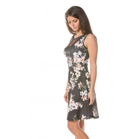 Princesse boutique - Robe NOIR à fleurs Noir